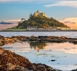 St Michaels Mount during the sunset