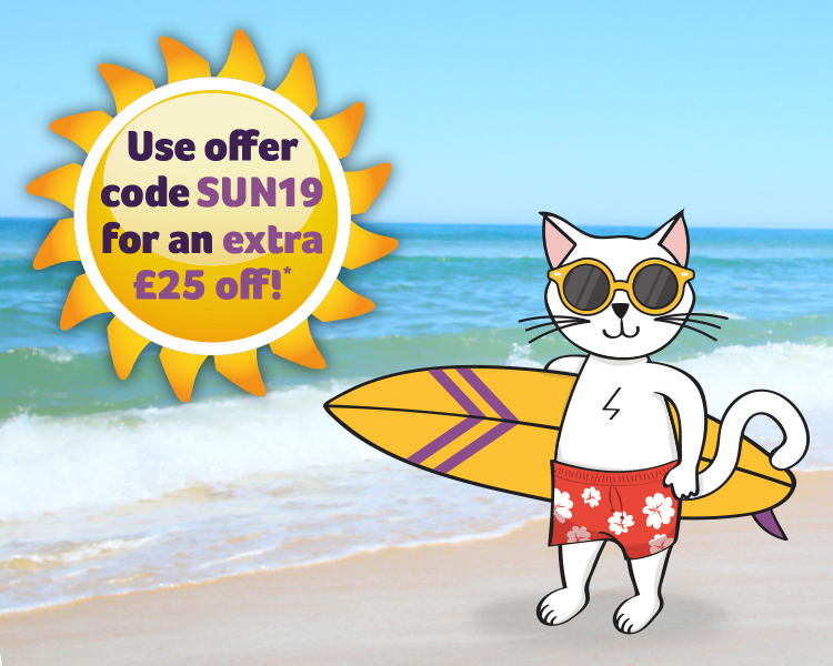 Save an extra £25 off your holiday using promo code SUN19